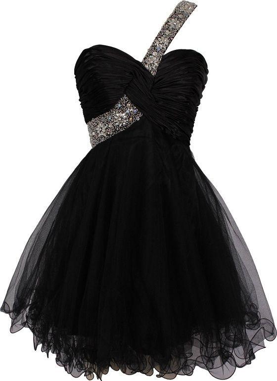 Bg424 Tulle Prom Dress,Black Prom Dresses,Beading Homecoming Dress,Short