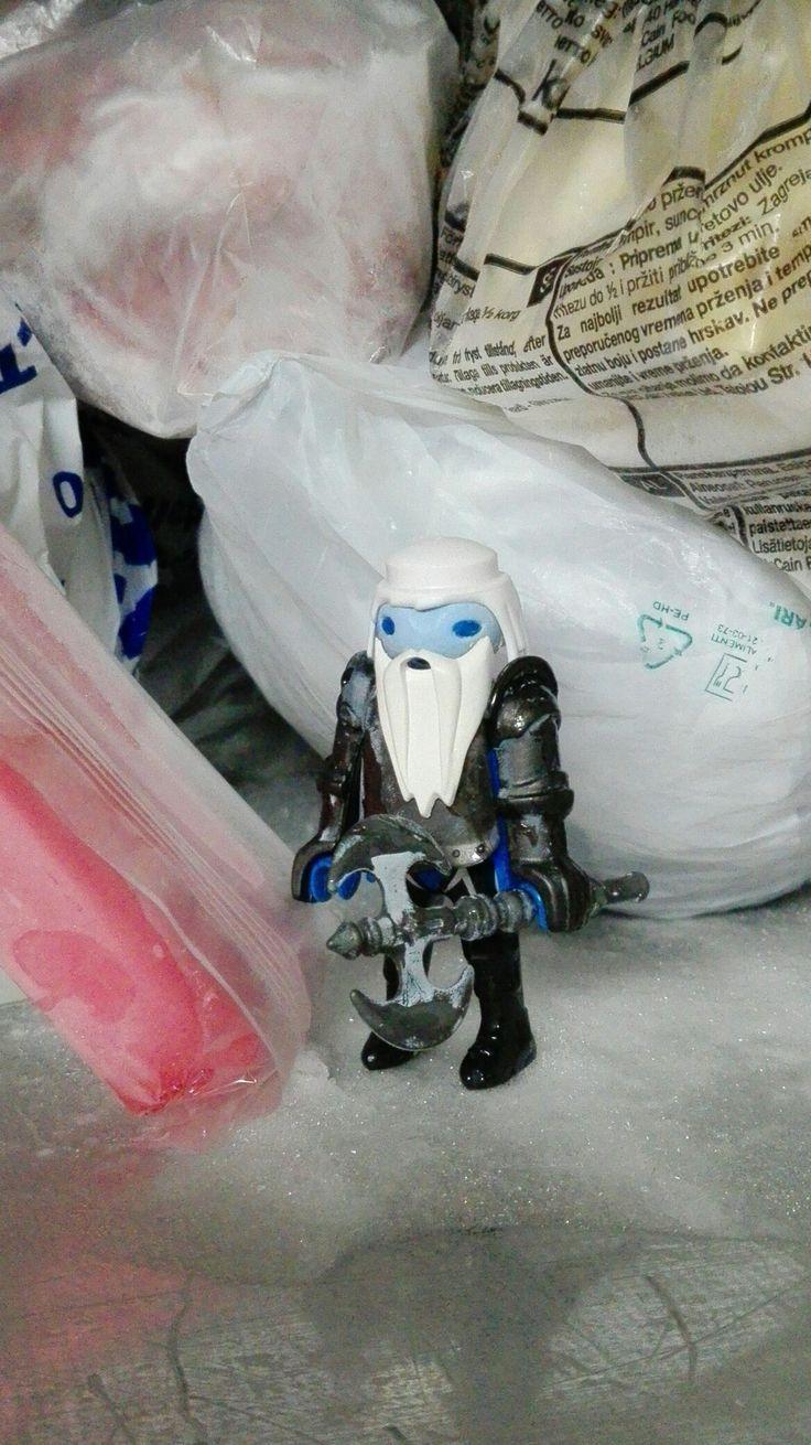 White Walker in my fridge by DoktorToys #Game of Thrones #Playmobil #GoT