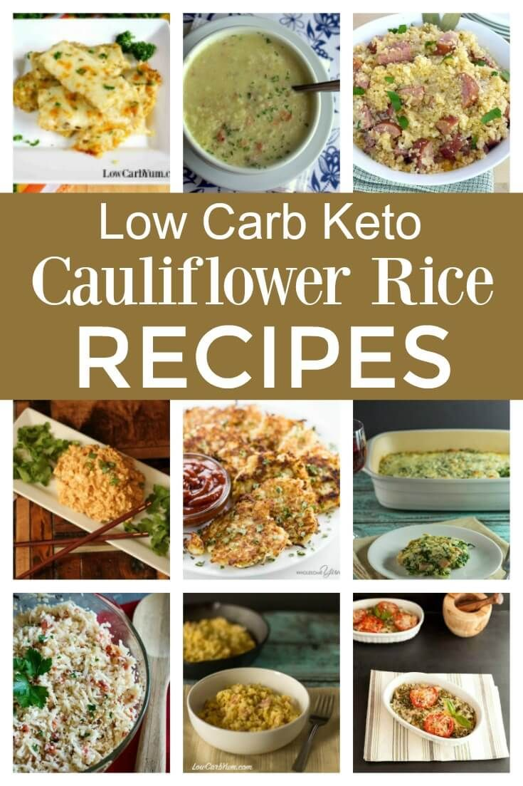 Not sure what to do with all that riced cauliflower you made? These easy low carb keto cauliflower rice recipes are sure to become family favorites!