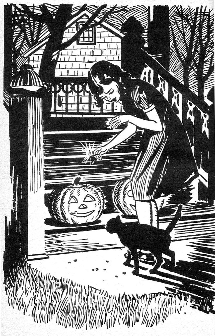 illustration by robert l doremus from spooks and spirits and shadowy shapes  [ 736 x 1148 Pixel ]