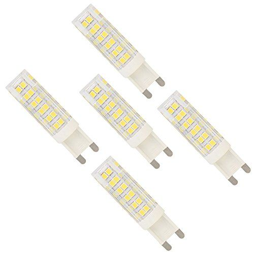 5 Pack G9 7W Cool White Dimmable 76 SMD 2835 LEDs Lamp Li... would like to try in bathroom, or there is a 10W version which is probably too bright