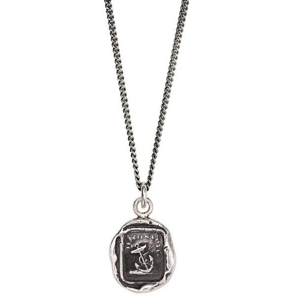 House of Alaia Power Bear Travellers Coin Necklace Silver - 20 Inches EI42mz
