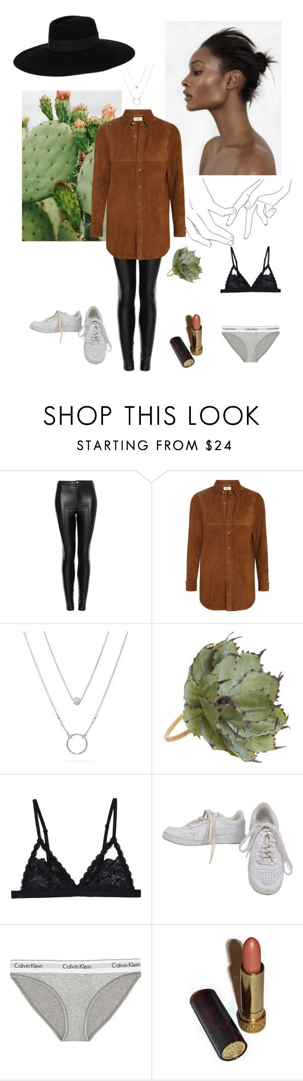 """Polexia #Cactus again"" by lj-k ❤ liked on Polyvore featuring Motel, Yves Saint Laurent, Deborah Rhodes, Cosabella, NIKE, Calvin Klein Underwear, Avon and Maison Michel"
