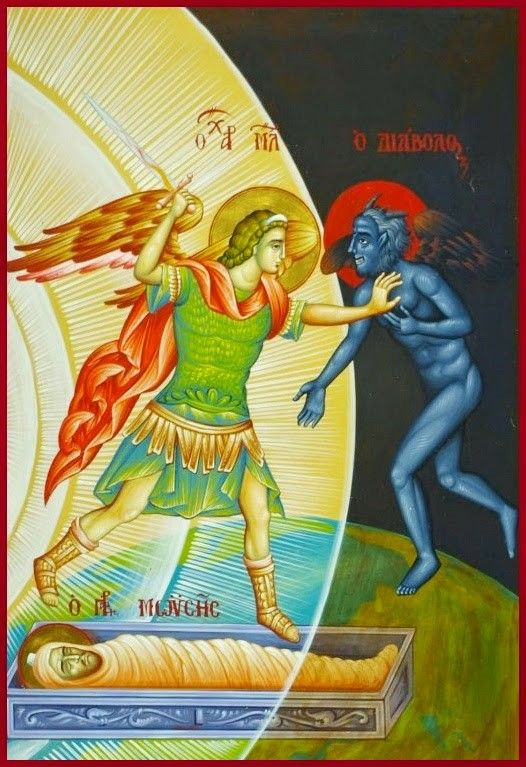 St. Michael And Satan Contending For The Soul Of Moses, As Mentioned In The