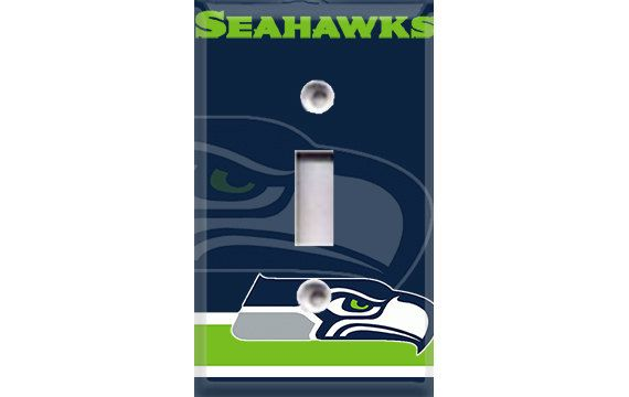 Seattle Seahawks Football Light Switch Plate Cover by Crazy8Zdecor, $6.99