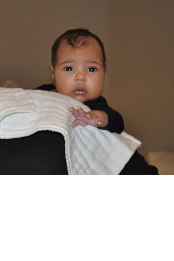 The First Time The World Saw Baby North West, 2013