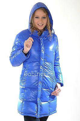 2 x Pamy Glanznylon Shinynylon Daunenmantel Down Coat Fanny Gr. S fällt groß aus