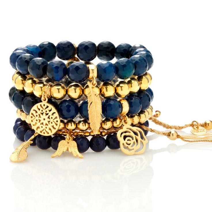Zestaw: Gwiaździsta noc #mokobelle #jewelry #jewelryaddict #fashion #bracelet #set #look #gold