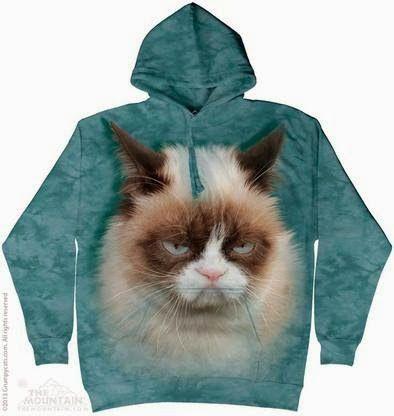 Mountaim Grumpy Cat Face Hoodie