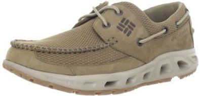 """Columbia Men's Boatdrainer PFG Boat Shoe Columbia. $74.52. Rubber sole. Leather/Textile. Heel measures approximately 1.25"""". Platform measures approximately 1"""" . Non-marking outsole. Drainable Midsole"""