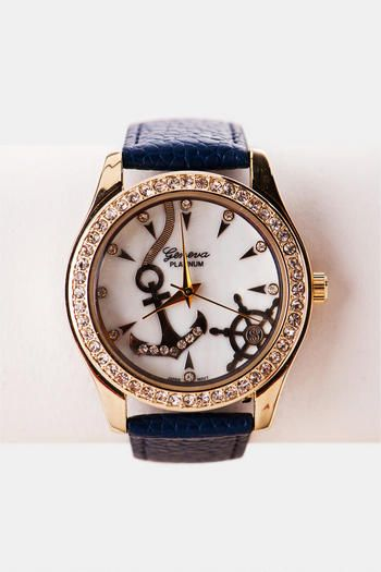 Anchor Bay Embellished Watch | Francesca's Collection | $24.00