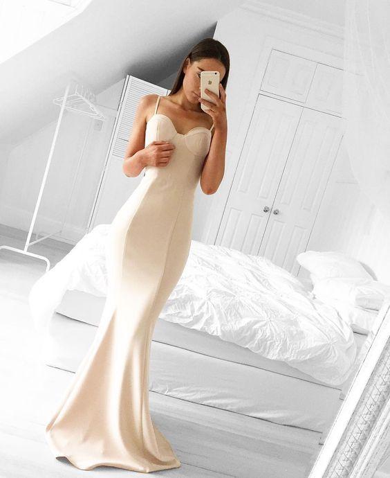 New Arrival Prom Dress,Sweetheart Mermaid Prom Gown Dress,Spaghetti