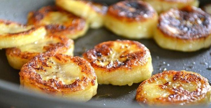 Recette : Rondelles de bananes frites au miel.