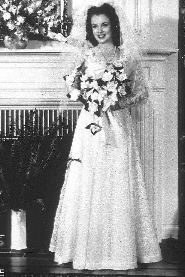 marilyn monroes first wedding dress famous brides