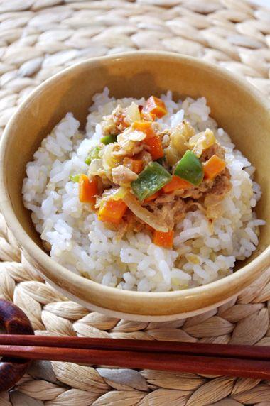 ご飯の友☆ツナと野菜の醤油マヨ | 美肌レシピ