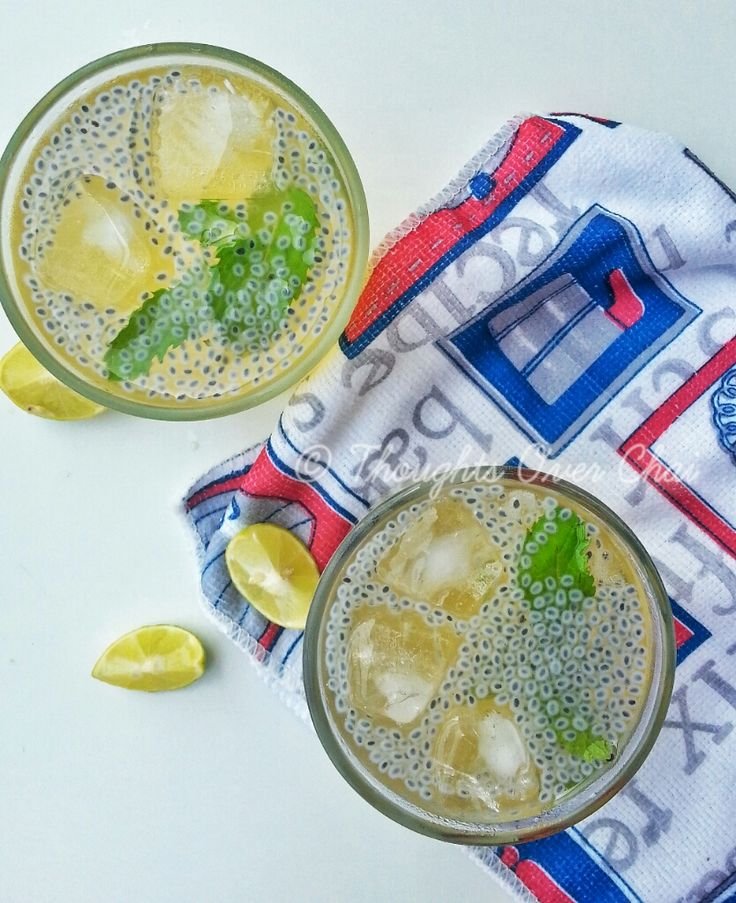 Gol Paani or Jaggery water drink quivered in with lime, mint and basil seeds is an excellent thirst quencher during the summer season.