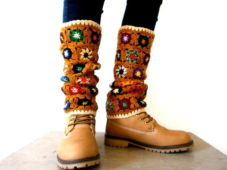 Inspiration | these are wild, granny square leg warmers