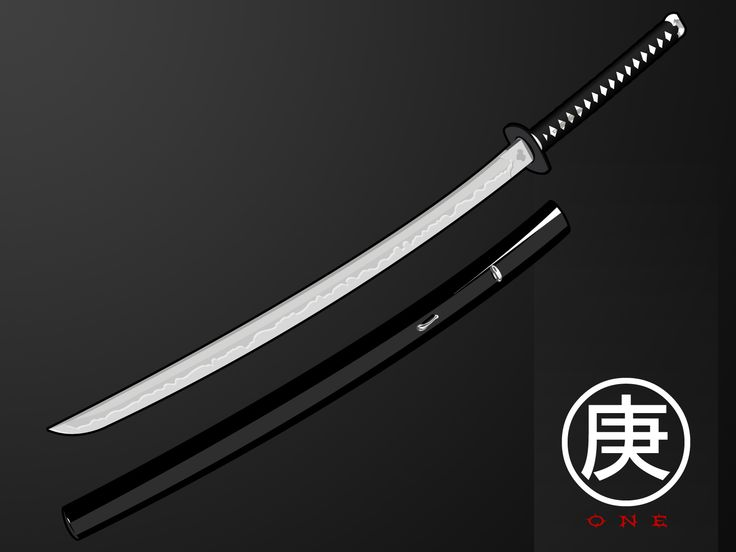 Katana Wallpaper One Black And White