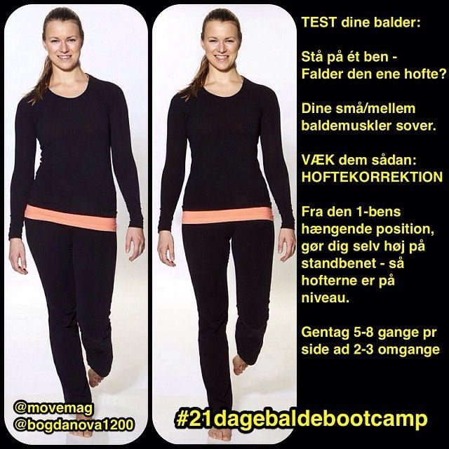 Test dine balder - og væk dem. Simpel hoftekorrektionsøvelse - opvarmning til #21dagebaldebootcamp med Move by Femina og Anna Bogdanova