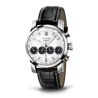 Visualizza i dettagli per EBERHARD Orologio da polso Watch Chrono 4 - 40mm cinturino in pelle nero ref. 31041 CP