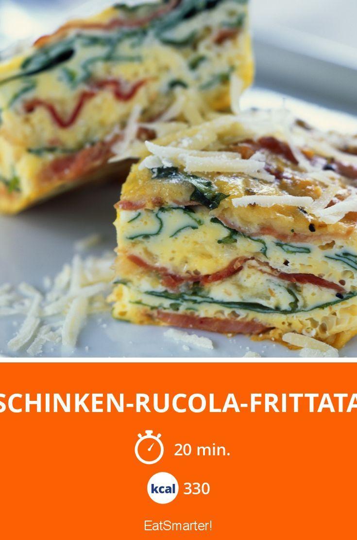 Schinken-Rucola-Frittata - smarter - Kalorien: 330 kcal - Zeit: 20 Min. | eatsmarter.de