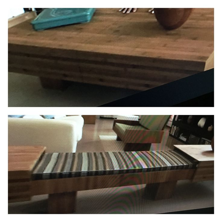 Gorgeous Bamboo Coffee Table Easily Slides Outward To Create A Bench U0026 Two Side  Tables.