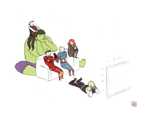 Avengers TV time: Skiing, Avengers Parodi, Heroes, Sequel Posthast, Avengers Movie, Noell Stevenson, Movie Nights, Avengers Comic, The Avengers