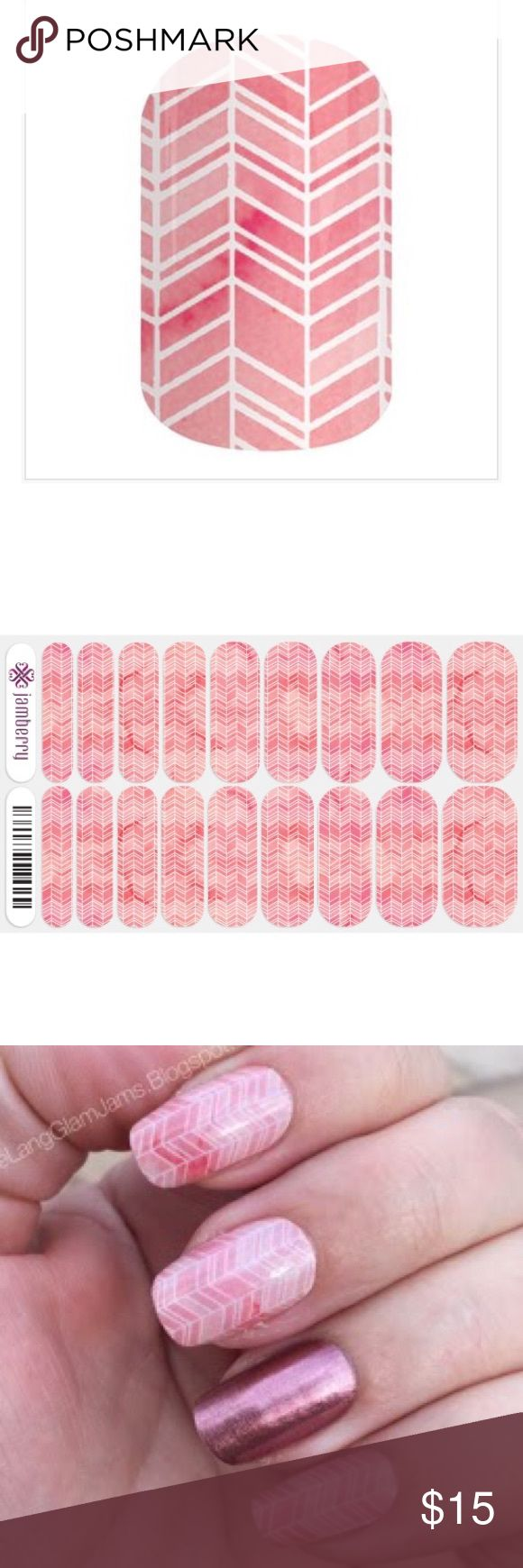 •Full Set Of JAMBERRY Sorbet Nail Wraps• Super cute and nontoxic like nail polish. Full sheet of jamberry plus 1 mini sample piece! Jamberry Accessories