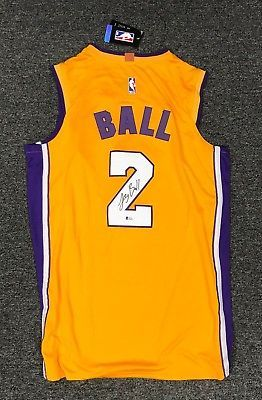 42341 Lonzo Ball  2 Signed Lakers Jersey AUTO Sz 52 Adidas BAS WITNESSED COA   Basketball d1d69fac5