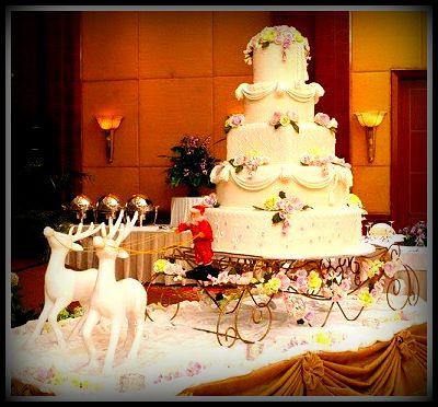 #lights #wedding #5layercake #vanila #flower #christmas #santa