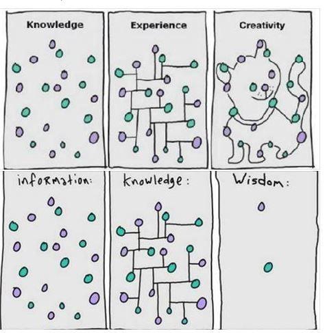 Information vs. Knowledge vs. Wisdom ... Expirience vs. Creativity ...