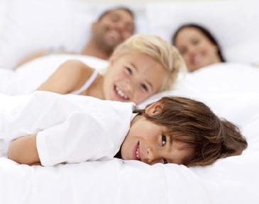 family bed photos