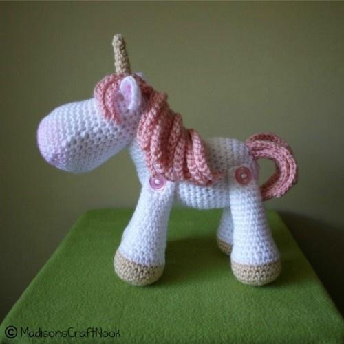 Luna the unicorn crochet pattern | madisonscraftnook - Patterns on ArtFire