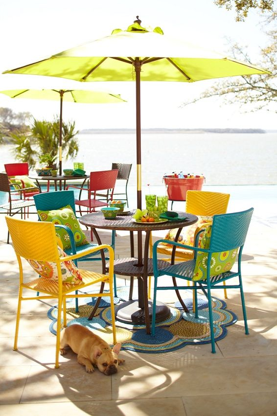 We've got bright and colorful outdoor furniture to cheer up any patio