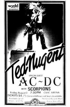 Ted Nugent Special Guest AC/DC Scorpions LIVE 11x17 Rare Very Limited Concert Poster Print Only One on Amazon , http://www.amazon.com/dp/B007R5RODC/ref=cm_sw_r_pi_dp_W1fIrb08QE3EP