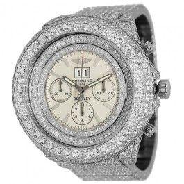 Breitling Bentley Mens Diamond Watch A44362