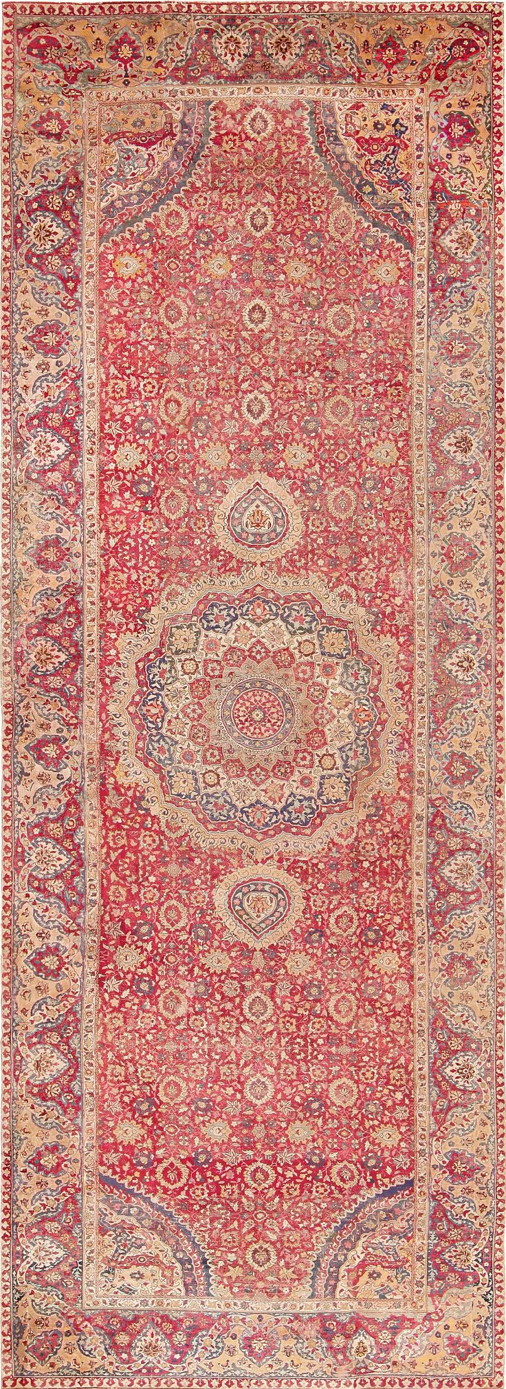 17th Century Indian Mughal Rug, Nazmiyal Collection