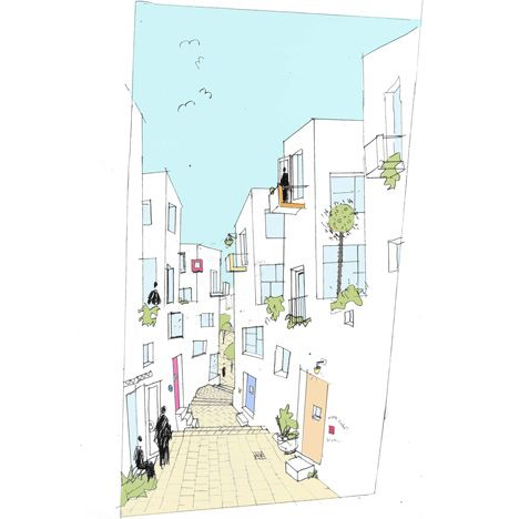 Fleet Street Hill by Peter Barber Architects-25 family terraced housing.