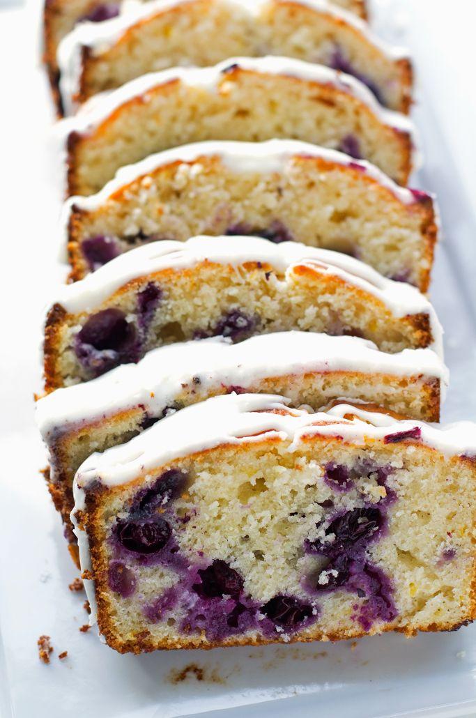 Lemon Blueberry Bread - A moist lemon poundcake studded with fresh juicy and plump blueberries!