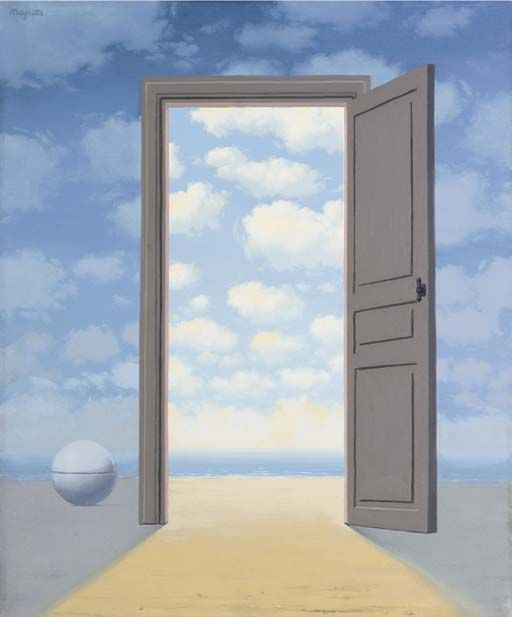 """L embellie"", huile de Rene Magritte (1898-1967, Belgium)"