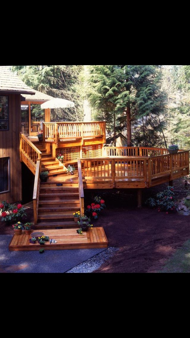 Garden Ideas On Two Levels 351 best garden - decks images on pinterest | backyard decks, deck