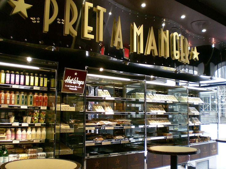 Pret a Manger- our daily breakfast spot in London - its like Starbucks but better and organic