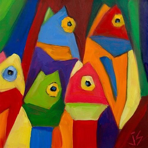 """»✿❤️Colors❤️✿« Cube Fish"""" by Johnna Schelling"""