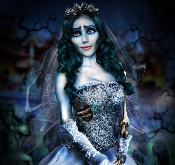 """Corpse Bride"" Digital Art by Alessandro Della Pietra Prints for sale: http://alessandro-della-pietra.artistwebsites.com/featured/corpse-bride-alessandro-della-pietra.html"
