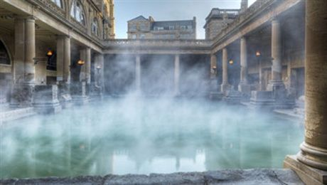 Roman Bath in Bath, UK