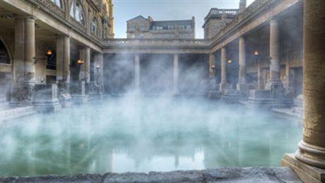 Roman Bath in Bath, UK