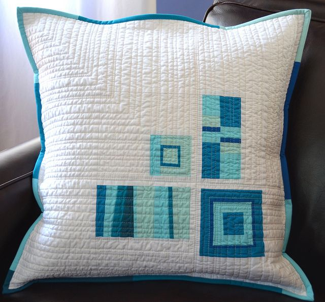 A Touch of Blue by shecanquilt, via FlickrFlickr Nice, Modern Patchwork Pillows, Blue Quilt, Touch, Blue Pillows, Cushions Pillows Blankets, Quilt Pillows, Photos Shared, Flickr Repin