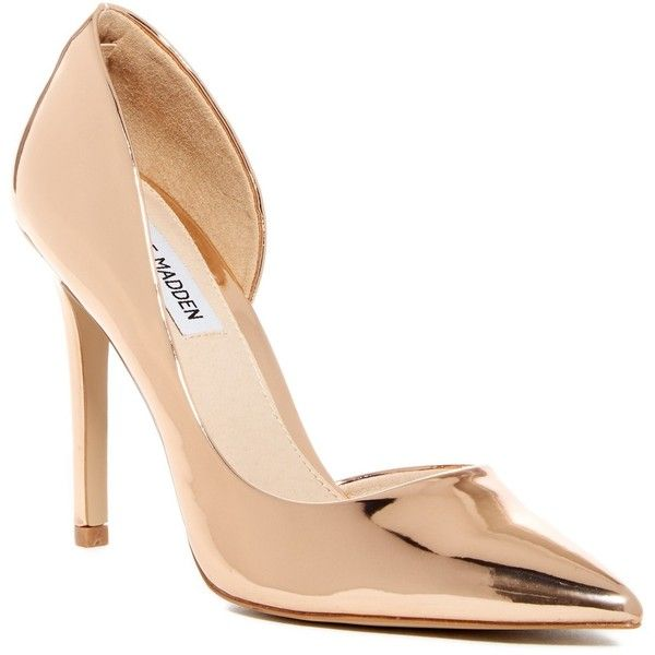 Rose gold shoes, High heels stilettos