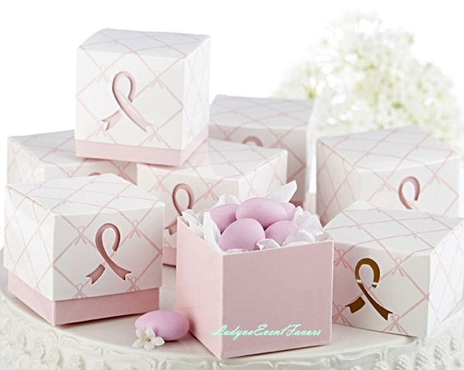Pink favor box