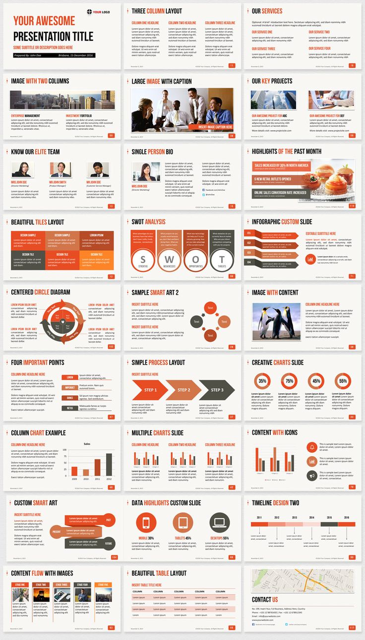 Red color PowerPoint template. They say red is the color of energy, passion and action. We believe this red color marketing PowerPoint template will exude the power and the solid foundation of your brand, and communicate your passion for business, perfectly. Now available to download at http://slidehelper.com/ultimate-business-powerpoint-template/ #MarketingPowerPointtemplates #PowerPoint #templates #Red